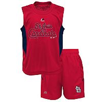 Toddler Majestic St. Louis Cardinals Tank & Shorts Set