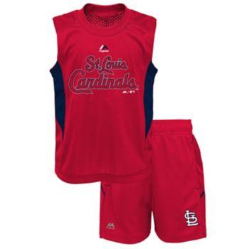 Toddler Majestic St. Louis Cardinals Tank & Shorts Set