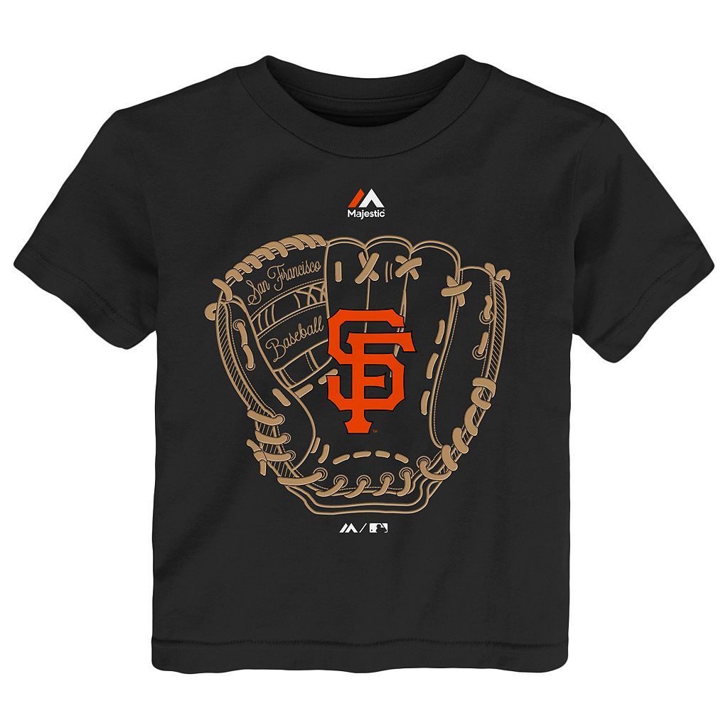Toddler Majestic San Francisco Giants Baseball Mitt Tee