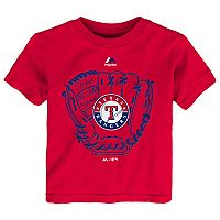 Toddler Majestic Texas Rangers Baseball Mitt Tee