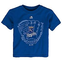 Toddler Majestic Kansas City Royals Baseball Mitt Tee