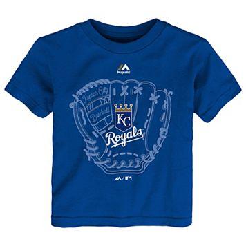 Toddler Majestic Kansas City Royals Baseball Mitt Tee