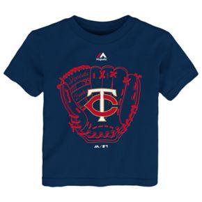 Toddler Majestic Minnesota Twins Baseball Mitt Tee