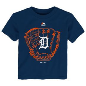 Toddler Majestic Detroit Tigers Baseball Mitt Tee