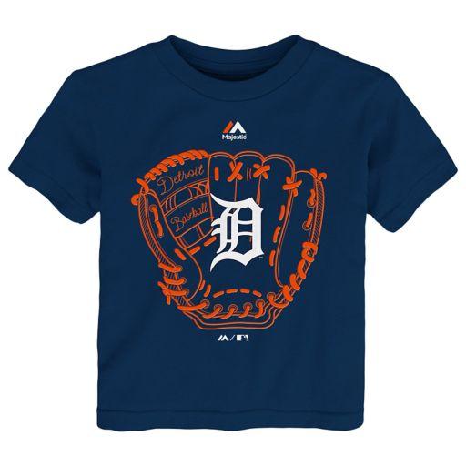 Toddler Majestic Detroit Tigers Baseball Mitt Tee
