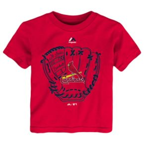 Toddler Majestic St. Louis Cardinals Baseball Mitt Tee