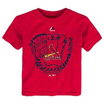 Toddler Majestic St. Louis Cardinals Baseball Mitt Tee