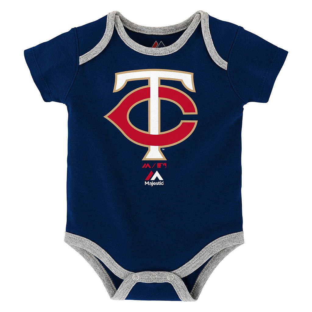 Baby Majestic Minnesota Twins Go Team 3-Pack Bodysuit Set