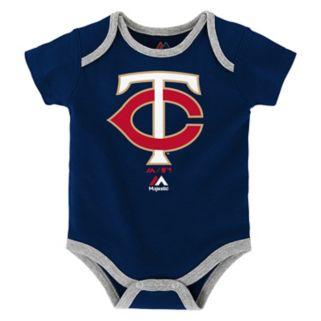 Baby Majestic Minnesota Twins Go Team 3-Pack Bodysuit Set