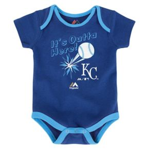 Baby Majestic Kansas City Royals Go Team 3-Pack Bodysuit Set