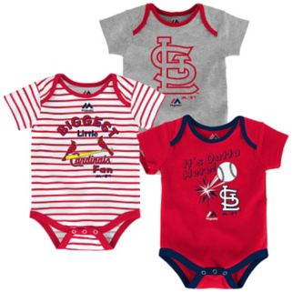 Baby Majestic St. Louis Cardinals Go Team 3-Pack Bodysuit Set