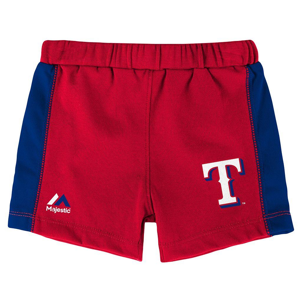 Baby Majestic Texas Rangers Fan Favorite Bodysuit & Shorts Set