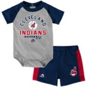 Baby Majestic Cleveland Indians Fan Favorite Bodysuit & Shorts Set