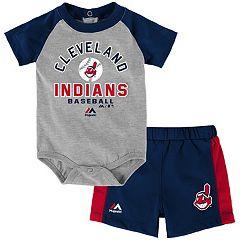 Baby Majestic Cleveland Indians Fan Favorite Bodysuit & Shorts Set