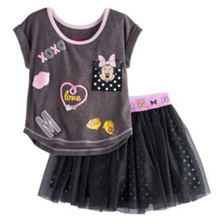 Disney's Minnie Mouse Toddler Girl Graphic Tee & Tulle Skirt Set