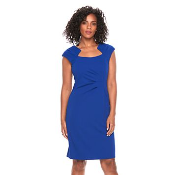 Women's Connected Apparel Ruched Sheath Dress
