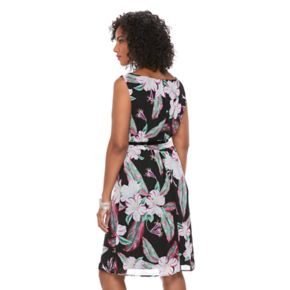 Women's Connected Apparel Floral Fit & Flare Dress