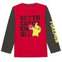 Boys 8-20 Pokemon Pikachu Tee