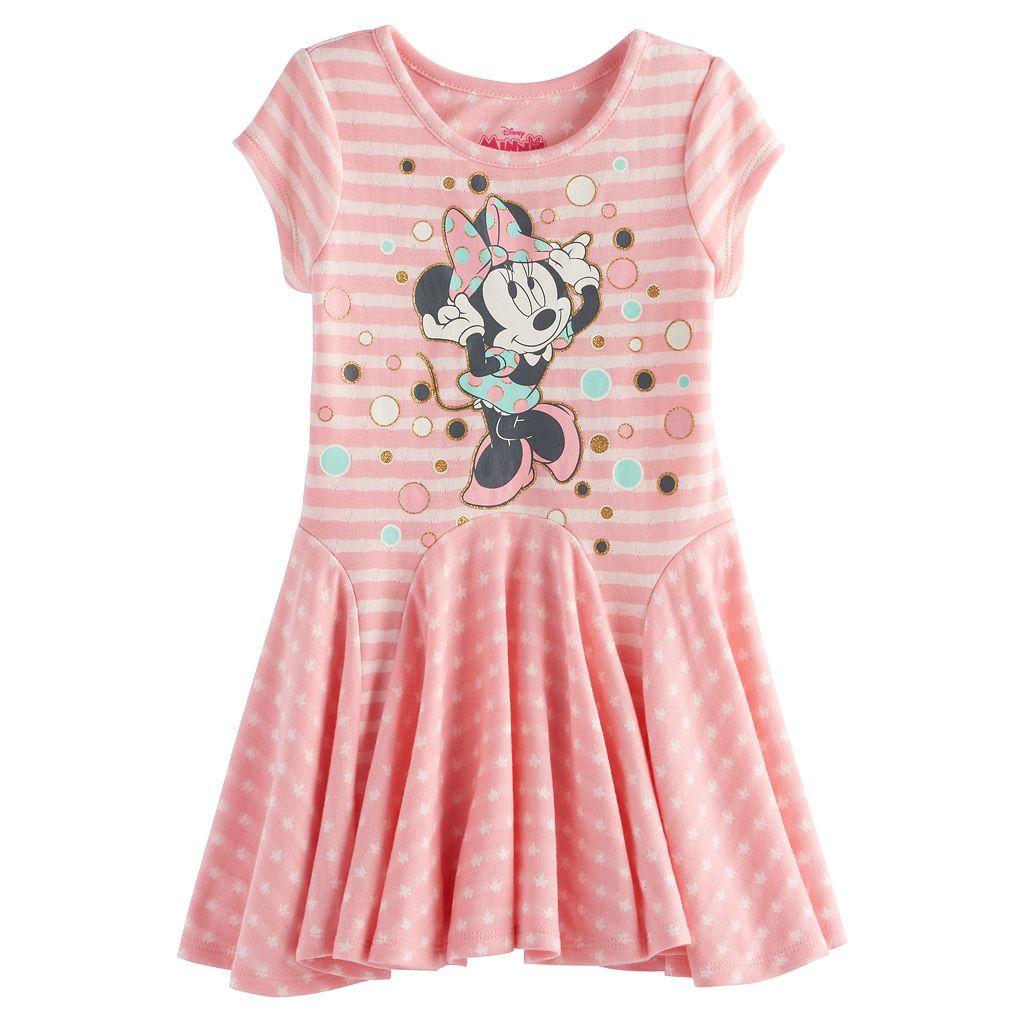 Disney's Minnie Mouse Toddler Girl Graphic Godet Dress