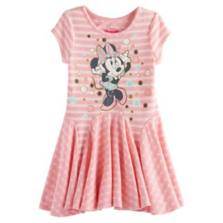 Disney's Minnie Mouse Toddler Girl Graphic Godet Dress