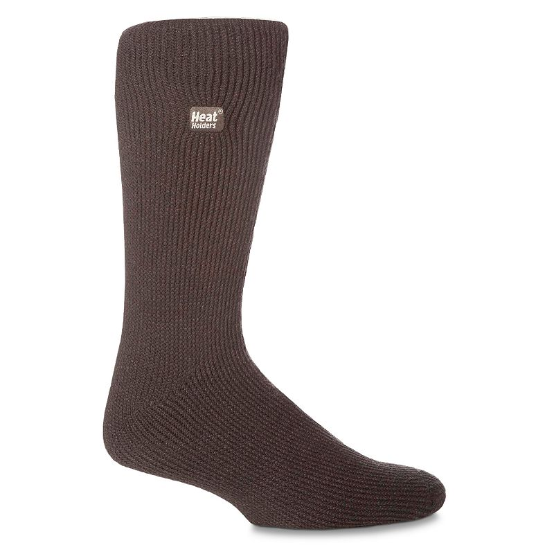 Men's Heat Holders Thermal Performance Crew Socks, Size: 7-12, Grey (Charcoal) Step it up. Enjoy warmth and comfort all day with these men's thermal performance socks from Heat Holders. Crew-length cut hits mid-calf Thermal construction features heavy bulk, high-performance yarns Soft, brushed inner lining FIT & Sizing Fits shoe sizes: 7-12 Fabric & Care Acrylic, nylon, polyester, elastane Machine wash Imported Color: Charcoal. Gender: Male. Age Group: Adult. Pattern: Solid. Material: Acrylic Blend.