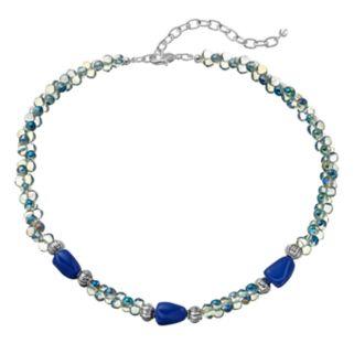Napier Blue Beaded Choker Necklace