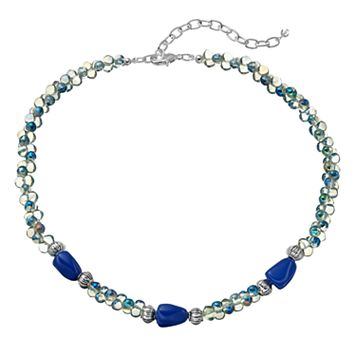 Napier Blue Beaded Choker Necklace