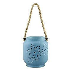 Stonebriar Collection Ceramic Hanging Lantern Decor