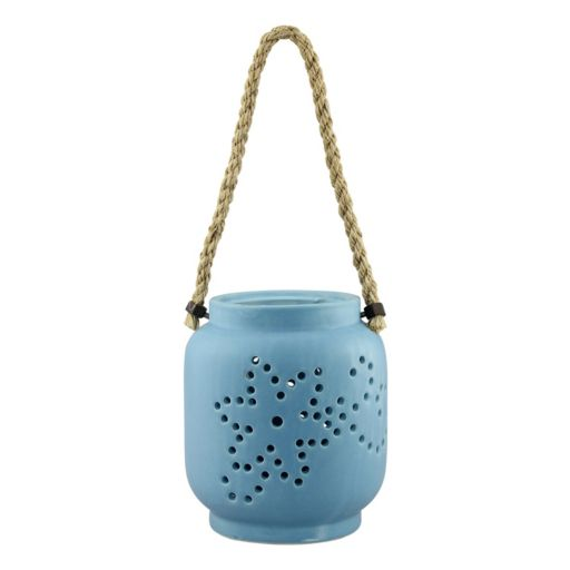 Stonebriar Collection Ceramic Hanging Lantern Decor