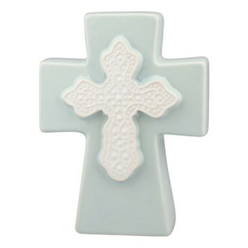 Stonebriar Collection Embellished Ceramic Cross Table Decor
