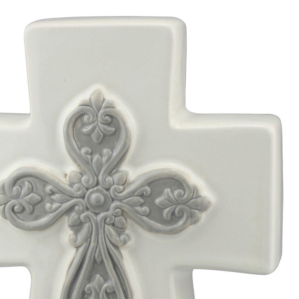 Stonebriar Collection Ceramic Cross Table Decor