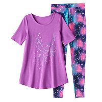 Girls 4-14 SO® Constellation Tunic & Leggings Pajama Set