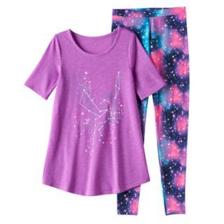 Girls 4-14 SO® Constellation Tunic & Leggings Pajama Set