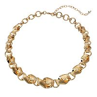 Napier Graduated Textured Wavy Link Necklace