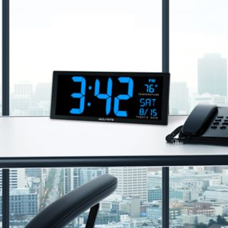 AcuRite Oversized LED Clock with Indoor Temperature