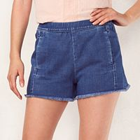 Women's LC Lauren Conrad Frayed High Waist Jean Shorts
