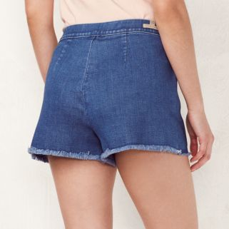 Women's LC Lauren Conrad Frayed High Waist Jean Shorts