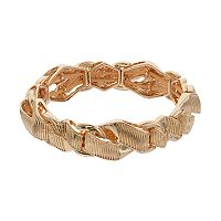 Napier Textured Wavy Stretch Bracelet