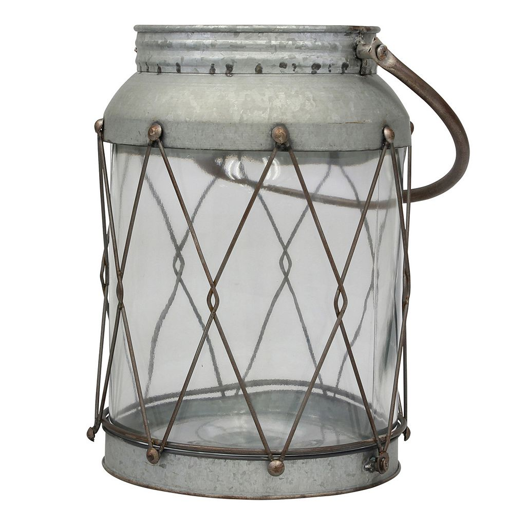 Stonebriar Collection Large Rustic Lantern Table Decor