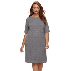 Plus Size Suite 7 Burnout Shift Dress