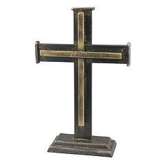 Stonebriar Collection Cast Iron Cross Table Decor