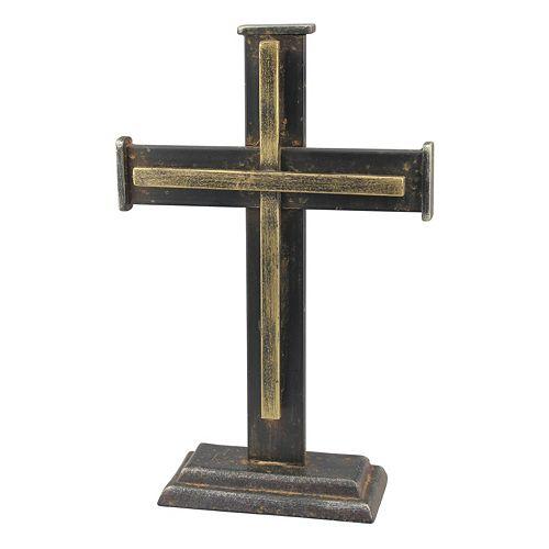 Stonebriar Collection Cast Iron Cross Table Decor