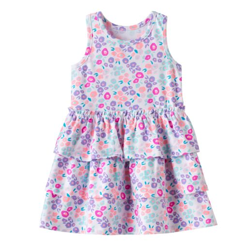 Baby Girl Jumping Beans® Print Tiered Dress