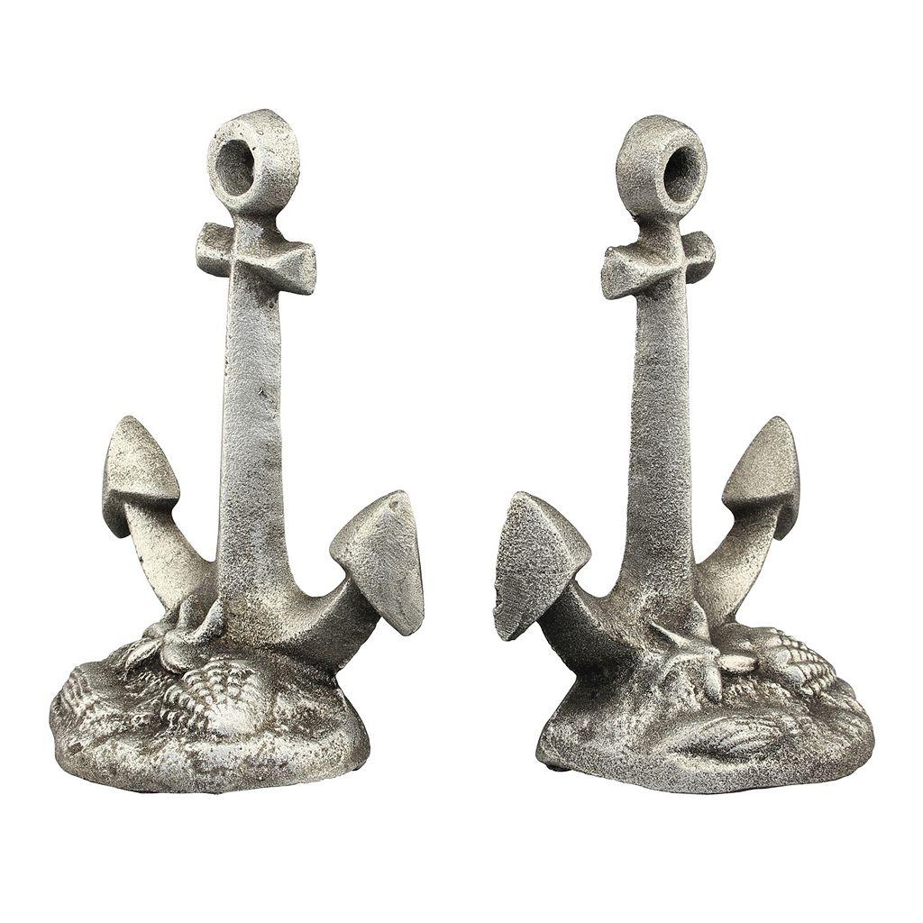Stonebriar Collection Cast Iron Anchor Bookends 2-piece Set