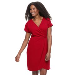 Plus Size Suite 7 Faux-Wrap Dress