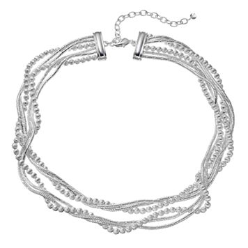Napier Twisted Multi Strand Choker Necklace