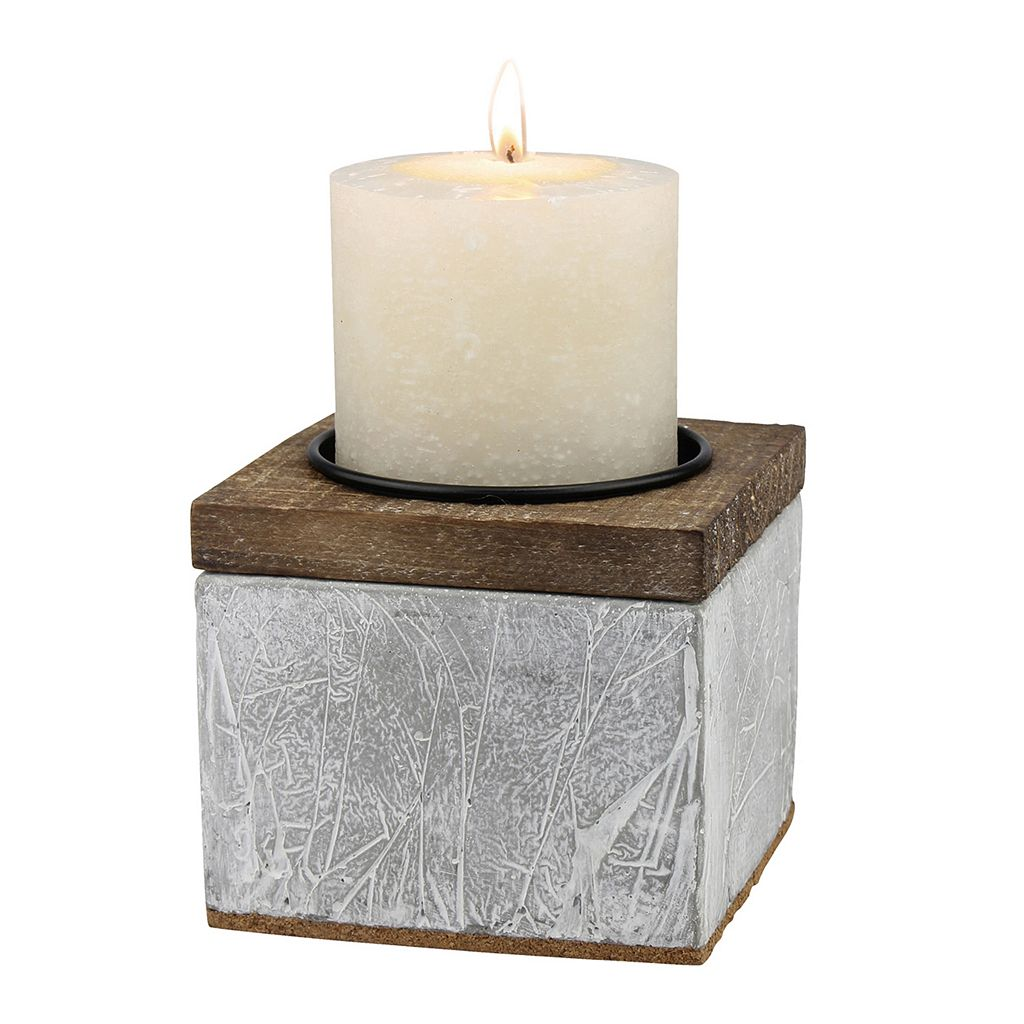 Stonebriar Collection Small Rustic Pillar Candle Holder