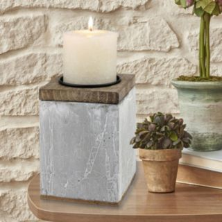 Stonebriar Collection Large Rustic Pillar Candle Holder