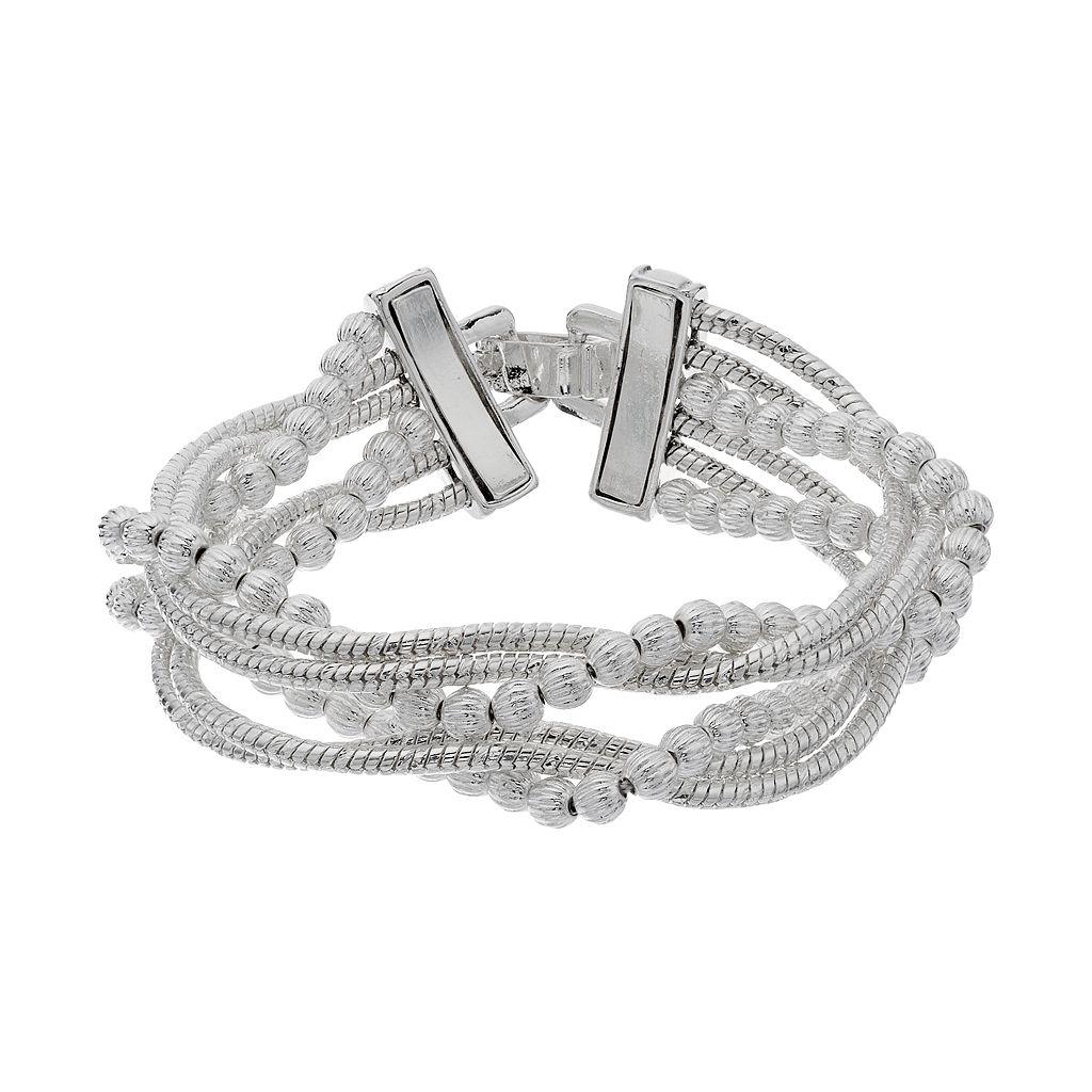 Napier Twisted Multi Strand Stretch Bracelet