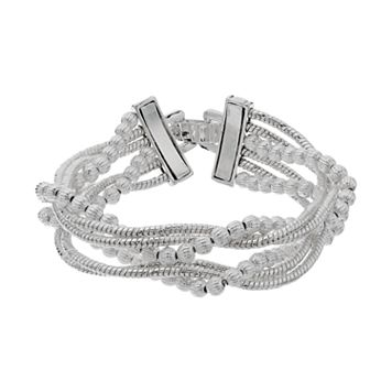Napier Twisted Multi Strand Stretch Bracelet